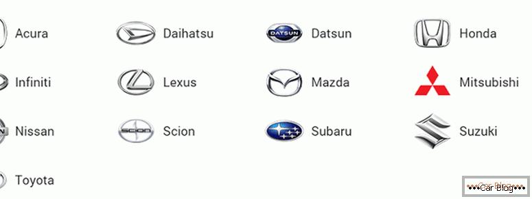 Japán autómárkák